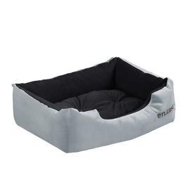 image-Irma Dog Bed Archie & Oscar Colour: Grey/Black, Size: Small: 38cm W x 50cm D x 17cm H