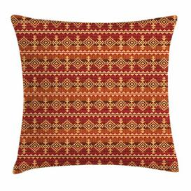 image-Ava-May Mexican Aztec Culture Ornament Outdoor Cushion Cover Ebern Designs
