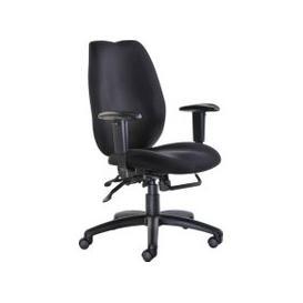 image-Cornwall High Back Ergonomic Operator Chair, Black