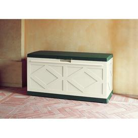 image-Resin Storage Bench WFX Utility Colour: Green/Ivory