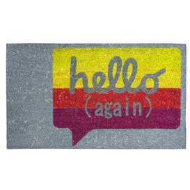 image-Rulers Non-Slip Outdoor and Indoor Hello Doormat Happy Larry