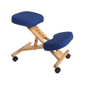 image-Wood Framed Kneeling Chair, Blue
