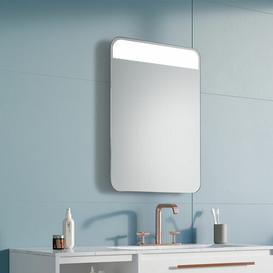 image-Rebecca LED Illuminated Bathroom Mirror Wade Logan Size: 70cm H x 50cm W x 3.2cm D