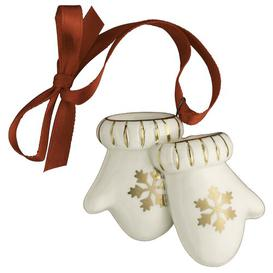 image-Christmas Mittens Miniature Hanging Figurine Belleek Home