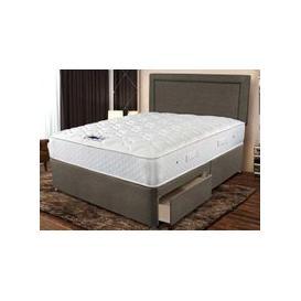 """image-Sleepeezee Memory Comfort 800 Pocket Divan Set - Super King (6' x 6'6\""""), Side Opening Ottoman, Sleepeezee_Plush Light Grey"""