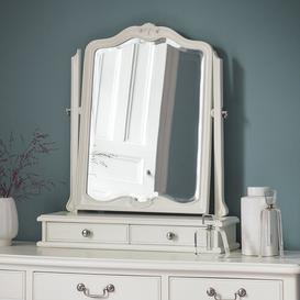 image-Cecilia Arched Dressing Table Mirror Lily Manor Colour: Chalk