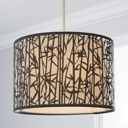 image-Catiri Bamboo Leaf Grey Easy Fit Pendant Grey