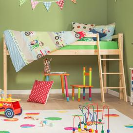 image-Single Mid Sleeper Bed Just Kids Colour: Natural