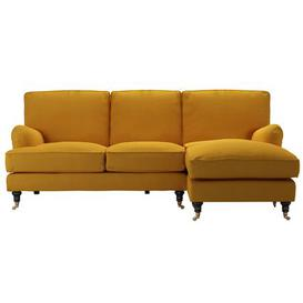 image-Bluebell RHF Chaise Sofa in Mango Brushed Linen Cotton