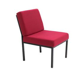 image-Modular Reception Rubic Guest Chair Brayden Studio Colour: Claret Pyra