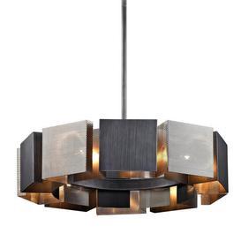 image-Hudson Valley Lighting Impression Hand-Worked Iron 10lt Pendant