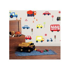 image-Transport Wall Stickers Red/Blue/Yellow/Orange