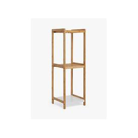 image-John Lewis & Partners Bamboo 3 Tier Bathroom Shelving Unit