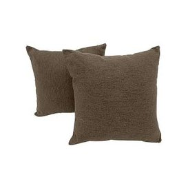 image-Versatile Pair of Fabric Scatter Cushions - Mink