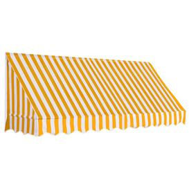 image-W 1.2 x D 2.5m Door Awning Sol 72 Outdoor Colour: Orange/White
