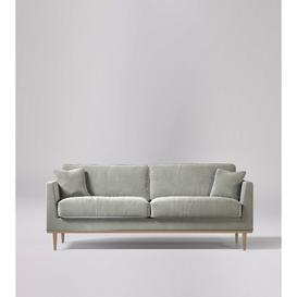 image-Swoon Norfolk Three-Seater Sofa in Ice Grey Easy Velvet With Light Feet