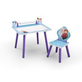 image-Disney Frozen Children's Activity Desk and chair Frozen