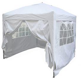 image-Jarrow 2m x 2m Aluminium Pop-Up Gazebo Sol 72 Outdoor Roof Colour: White