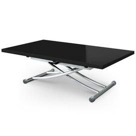 image-Ainslie Extendable Coffee Table Mercury Row Size: 80cm H x 125cm W x 42cm D, Table Top Colour: Black