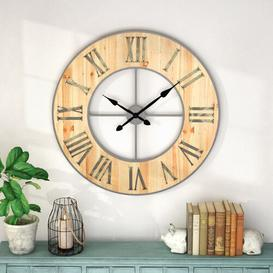 image-Oversized Carothers 90cm Silent Wall Clock Williston Forge