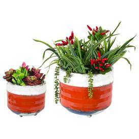 image-Bondi Orange Balcony Planters (Set Of Two)
