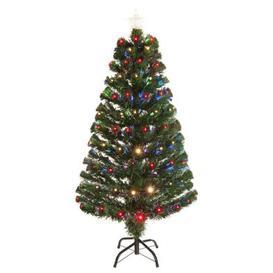 image-150cm (5 Foot) Multicolour Green Fibre Optic 170 Tips Christmas Tree