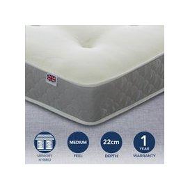 image-Prague Open Coil and Memory Foam Mattress White/Grey