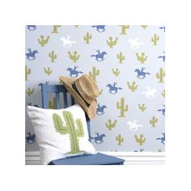 image-Kids Wallpaper Cactus Cowboy Design