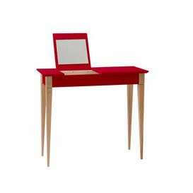 image-Nigel Dressing Table with Mirror Zipcode Design Colour: Red, Size: W 105cm x D 35cm x H 74cm