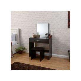 image-Julia Dressing Table Brown 1 Drawer With Stool