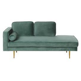 image-Eckard Chaise Longue Fairmont Park Upholstery Colour: Green, Orientation: Left-Arm Chaise
