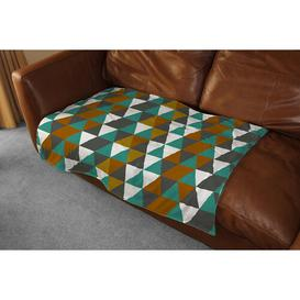 image-Autumn Geometric Triangles Blanket