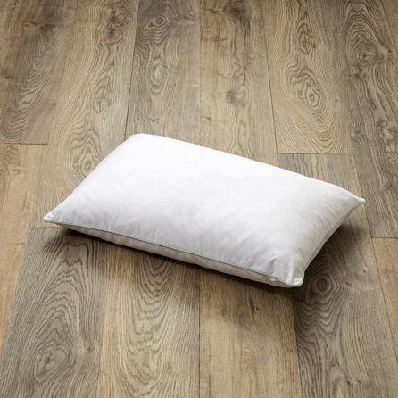 image-Goose Feather and Down Rectangular Cushion Pad White
