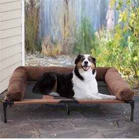 image-Elevated Pet Bed Dog Raised Hammock Folding Breathable Cooling Mesh