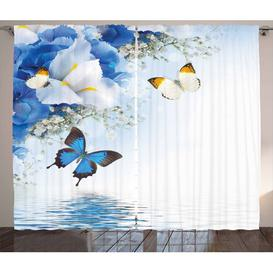 image-Flowers Pinch Pleat Blackout Thermal Curtains East Urban Home Dimensions per curtain: 140 W x 245 D cm