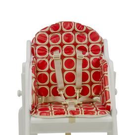 image-East Coast Combination Highchair Cushioned Insert, Watermelon