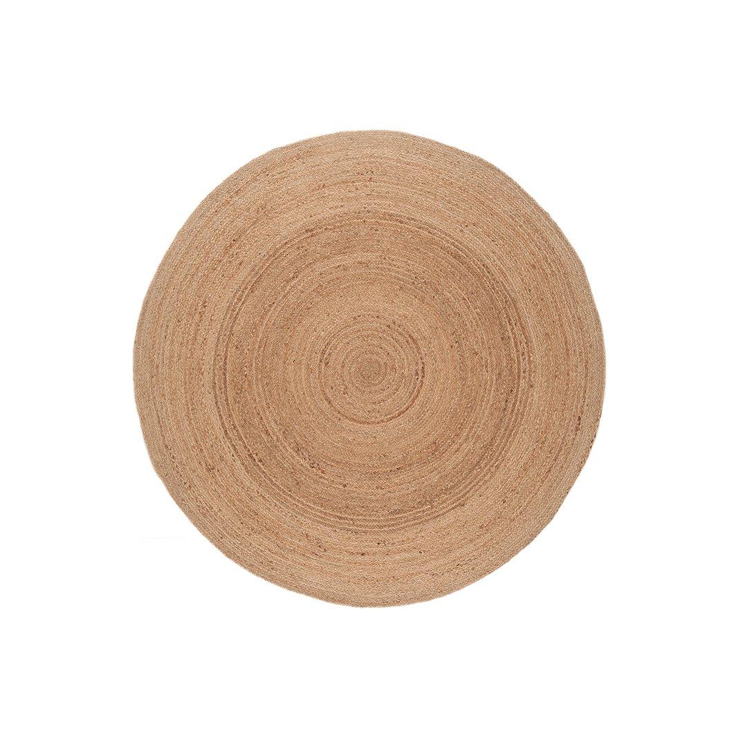 image-Eivissa Round Jute Rug 160x160cm , Natural