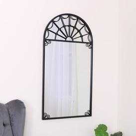 image-Edlohman Metal Framed Wall Mounted Accent Mirror in Black