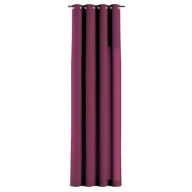 image-Nihar Eyelet Room Darkening Curtain Ebern Designs Colour: Plum, Panel Size: 135 W x 245 D cm