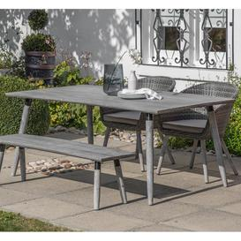 image-Gallery Geneva Grey Washed Outdoor Dining Table