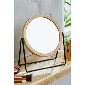 image-Matt Black Free Standing Mirror