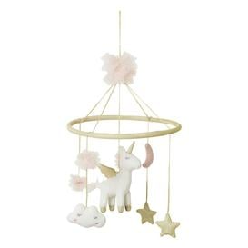 image-Pink and Gold Unicorn Mobile for Babies