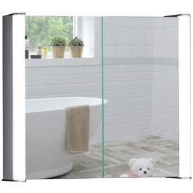 image-LED Illuminated Bathroom Mirror Cabinet CABM12 Size-60Hx65Wx16Dcm