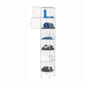image-Wire mesh locker, 6 doors, 1980x305x305 mm
