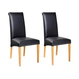 image-Cassana Upholstered Dining Chair (Set of 2) Mercury Row Upholstery Colour: Black