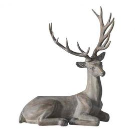 image-Gallery Direct Osteroy Stag Sculpture / Grey Wash / Small