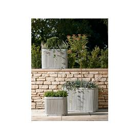 image-Three Fluted Zinc Planters