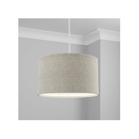 image-Made to Order 40cm Drum Shade Linoso Dove