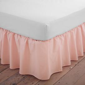 image-Margret 144 Thread Count Valance Zipcode Design Size: Double (4'6), Colour: Peach