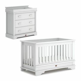 image-Eton Cot Bed 2-Piece Nursery Furniture Set Boori Colour: Barley White
